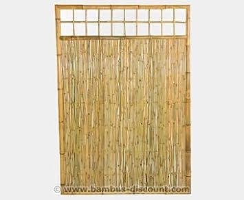 Bambus Sichtschutz Wand U0026quot;TEN Premiumu0026quot; Höhe 180 X Breite 120cm,  Mit Gitter