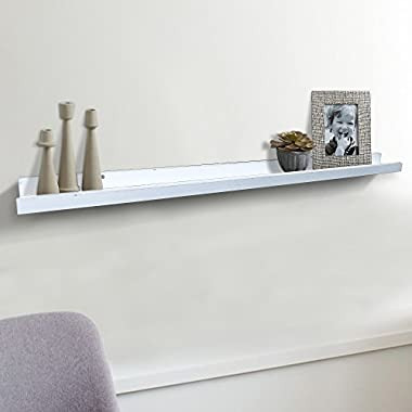 Shelving Solution Large  L  Shaped Floating Shelf (White 45 1/4 Inch)