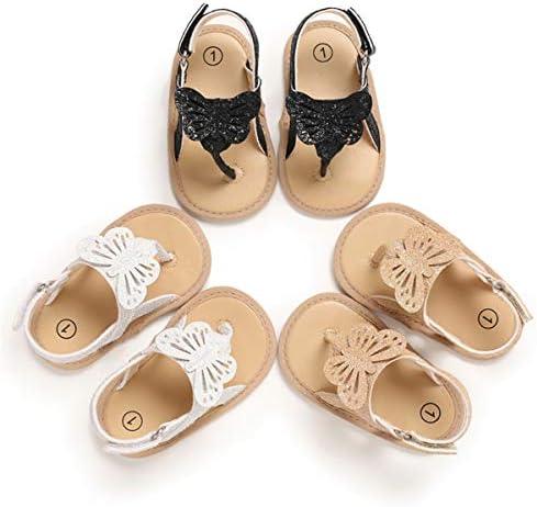 41gIP%2BdTYwL. AC - COSANKIM Infant Baby Girls Summer Sandals With Flower Soft Sole Newborn Toddler First Walker Crib Dress Shoes