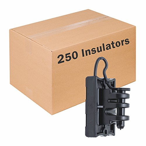 (Zareba IWTPLB-Z Z Wood and T-Post Insulator, 250 Pack)