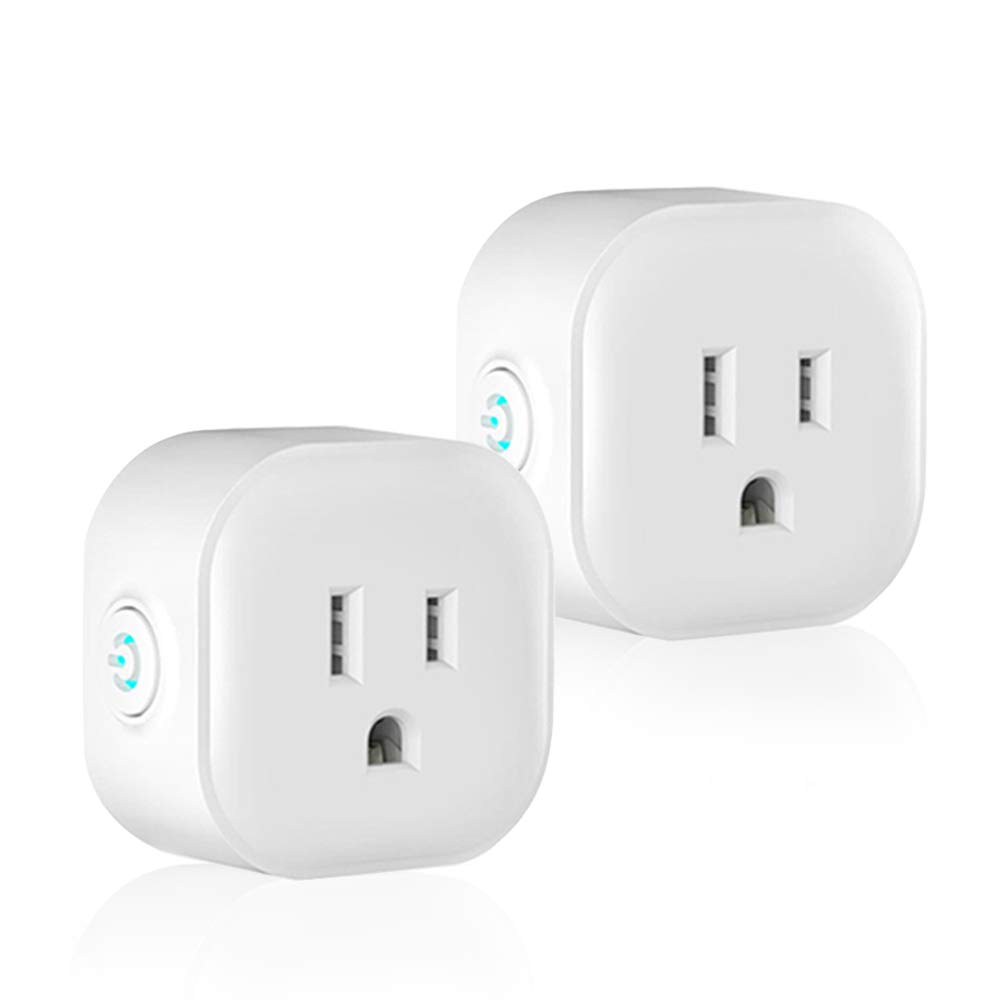 Wifi Smart Plug Mini Smart Outlet Works With Alexa & Google Home, Wireless Timer Outlet Plug, Remote Control Wifi Smart Outlet Switch By Smart Phone From Anywhere, No Hub Required,ETL Listed (2 Pack) by KENBOD (Image #1)