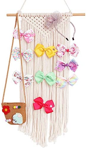 Timdle Bow Organizer for Girls Hair Bows Holder Rainbow Decoration Wall Hanging Decor Hair Clips Hanger for Baby Girls Room Apartment Bedroom Living Room Gallery