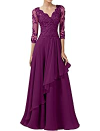 DINGZAN 2018 Wedding Guest Mother of the Bride Dresses with Half Sleeves