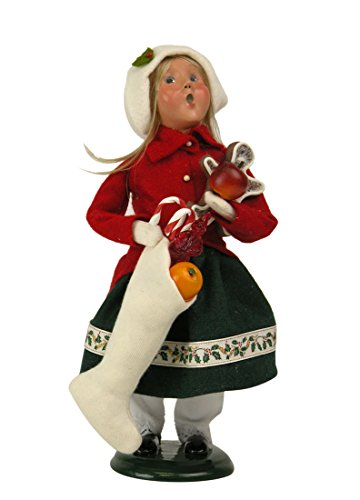 [Byers Choice Town Crier Girl with Christmas Treats 2015] (Town Crier Costumes)