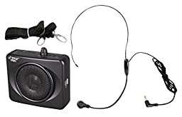 PYLE-PRO PWMA60UB 50 Watts Portable USB Waist-Band PA System with Headset Microphone, Rechargeable Batteries (Color Black)