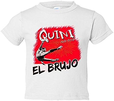 Camiseta niño Homenaje a Quini El Brujo del fútbol - Blanco f05a114f094e5