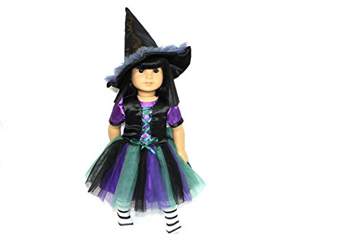Arianna Coven Witch 3pcs Doll Costume Fits 18 inch American Girl Doll |18 inch Doll Clothes | Boutique Quality She's Worth it! | Designed in USA Fit 18 Inch Dolls