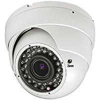 101AV 1000TVL Dome Security Camera 2.8-12mm WDR Wide Dynamic Range Varifocal Vandal proof Lens 1/3 Sony 1.4 Megapixel CMOS Sensor Weatherproof Outdoor WDR 100 ft IR Range 36 pcs IR LEDs Metal Housing for CCTV DVR Home Office Surveillance DC 12V