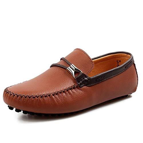 Conducción Hombres Perezosos De Yaxuan Y Para Cordones Cuero Suela Sandalias Mocasines Ligera Zapatos Un Con fZqPtx