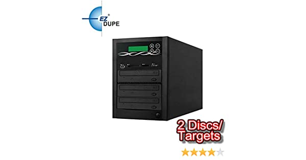 Backup Data from CD//DVD//Blu-Ray//SD//CF//MS//MMC//USB to Disc 2 Discs//Targets CD//DVD EZ DUPE Spartan Multi Media Mirror duplicator