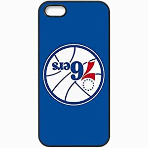 Personalized iPhone 5 5S Cell phone Case/Cover Skin Nba Philadelphia 76ers 4 Sport Black