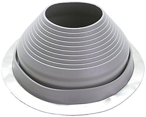 (Grey Silicone Round Base Pipe Flashing Master Flash #7, Pipe Range 6