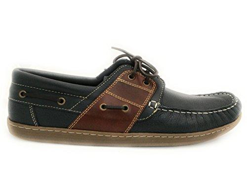 Zerimar Zapato para caballeros naútico de piel con suela de goma flexible 100 % Piel de primera calidad Forro interior en piel PRECIOS DE REBAJAS - AHORA 0 NUNCA Tallas grandes XXL de la 47 a 50 azul marino