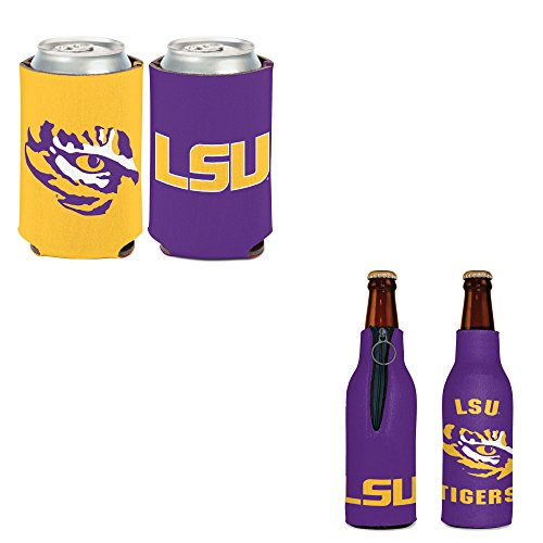 WinCraft Bundle - 2 Items: Louisiana State LSU Bottle Cooler and Can Cooler