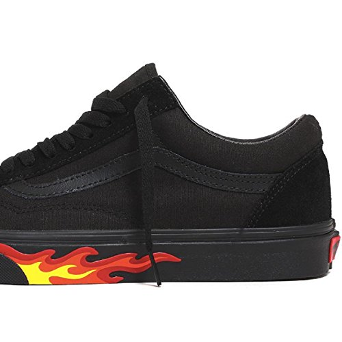 Sneakers Black Vans flame Wall Basses Homme B04cWTSqR