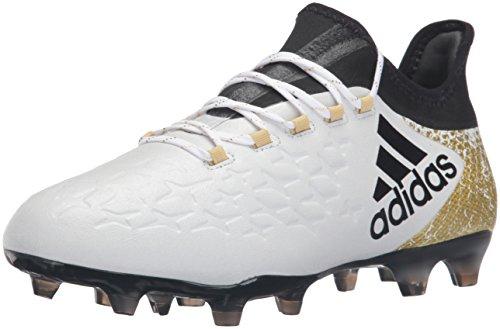Adidas Mens Prestazioni X 16.2 Ditta Scarpa Da Calcio Fondo Bianco / Nero / Oro Metallizzato