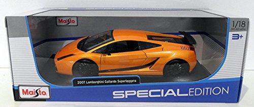 Lamborghini Gallardo Superleggera (2007) in Metallic Orange (1:18 scale) Diecast Model Car by Maisto