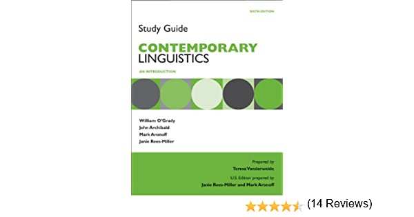 Amazon study guide for contemporary linguistics 9780312586300 amazon study guide for contemporary linguistics 9780312586300 william ogrady john archibald mark aronoff janie rees miller books fandeluxe Choice Image