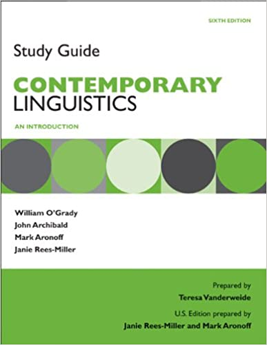 Amazon study guide for contemporary linguistics 9780312586300 study guide for contemporary linguistics 6th edition fandeluxe Choice Image