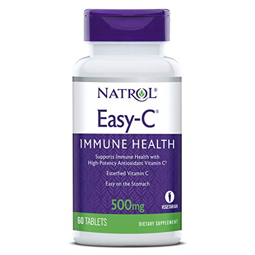 Natrol Easy-c Immune Health, High-Potency Antioxidant Vitamin C, 500 Mg Tablets, 60 Count