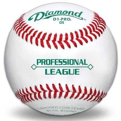 Diamond D1-PRO Professional League Baseball (One Dozen) by Diamond Sports