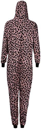 PurpleHanger Women's Leopard Hoodie Onesie Jumpsuit Playsuit Brown 8-10 (M)