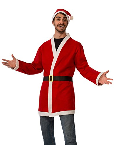 Rubie's Men's Clausplay Santa Jacket with Belt and Hat, Multi-Colored, One Size (Santa Jacket And Hat)