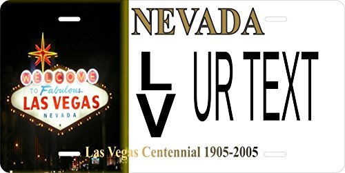 Nevada Las Vegas Personalized Custom Tag Vehicle Car Moped Bike Bicycle Motorcycle Auto License Plate