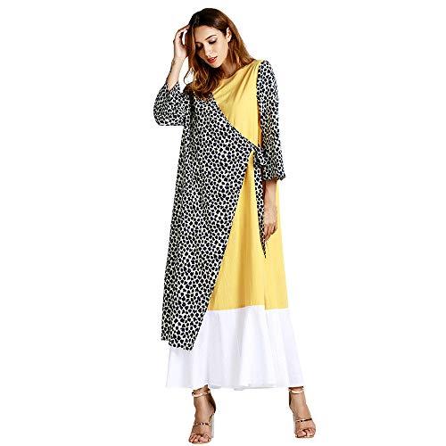 ❤ Vestido Largo Invierno Mujer Leopardo, Moda Musulmana Estampado Leopardo Fiesta de Manga Larga Vestido Largo Maxi túnica Absolute: Amazon.es: Ropa y ...