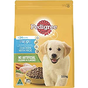 Pedigree Chicken & Rice Meaty Bites for Puppy 2.5 kg 1 Pack, Puppy, Small/Medium/Large Click on image for further info.