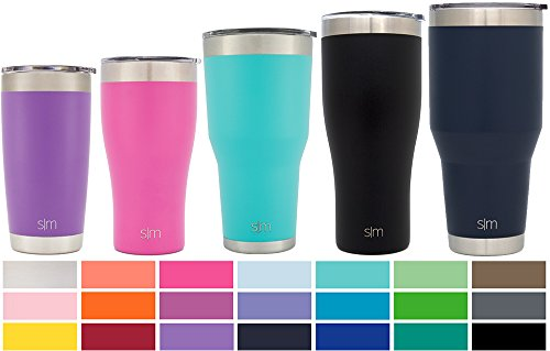 Simple Modern 40oz Cruiser Tumbler - Vacuum Insulated Double Wall Large Thermos - 40 oz 18/8 Stainless Steel Navy Travel Mug - Deep Ocean