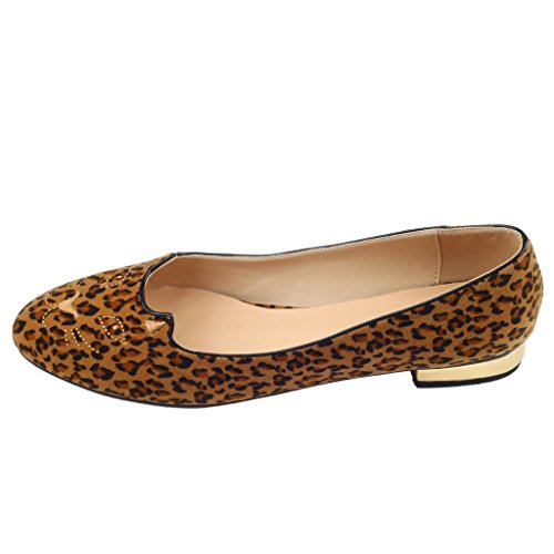 Multicolor Jushee Sandalias mujer Leopardo Jushee Sandalias Rpp0f4Hq