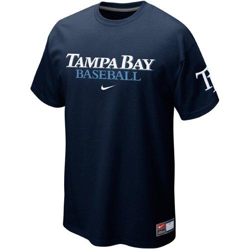 Nike Tampa Bay Rays Away Practice T-Shirt - Navy Blue (X-Large) ()