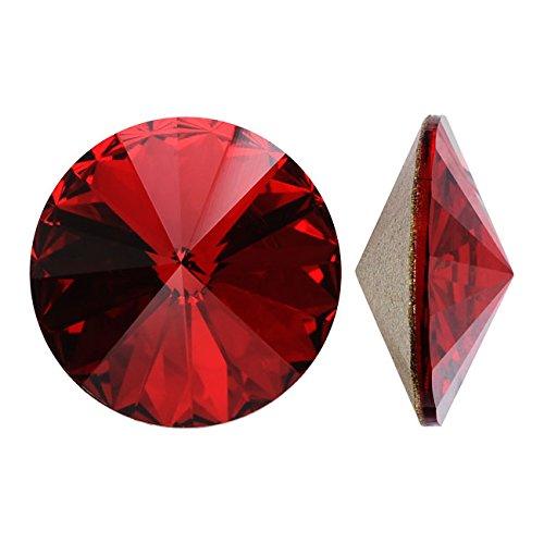 SWAROVSKI ELEMENTS Crystal Rivoli Beads #1122 14mm Siam SF (2)