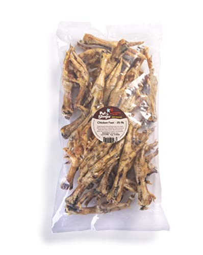 Pet 'n Shape Chicken Feet Dog Treat - Made & Sourced in The USA - All Natural Dog Chews - 1lb Bag