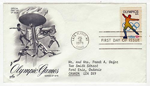 United States Lake Placid 1976 Winter Olympics Postage Stamp Original First Day Cover # 1698 w/Cachet Art Craft