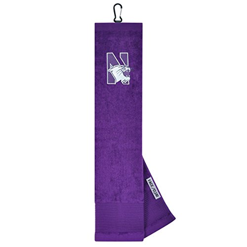 (Northwestern Wildcats Face/Club Embroidered Towel)