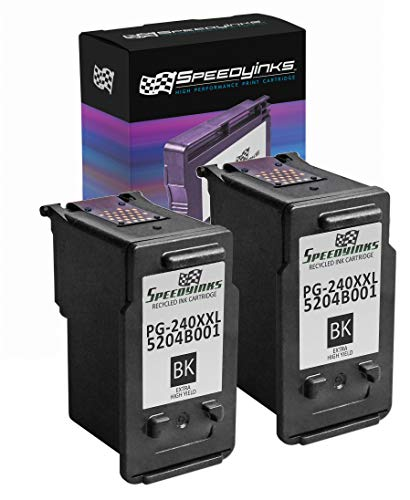 Speedy Inks Remanufactured Inkjet Cartridge Replacement for Canon PG-240XXL 5204B001 Extra High-Yield (Black, 2-Pack)