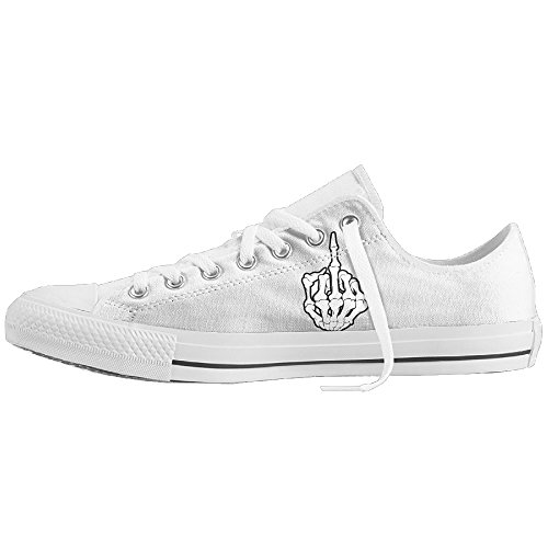 76d8b3b53d Unisex Canvas Shoes Middle Finger Fuck Classic Slip-on Casual Sneaker  delicate