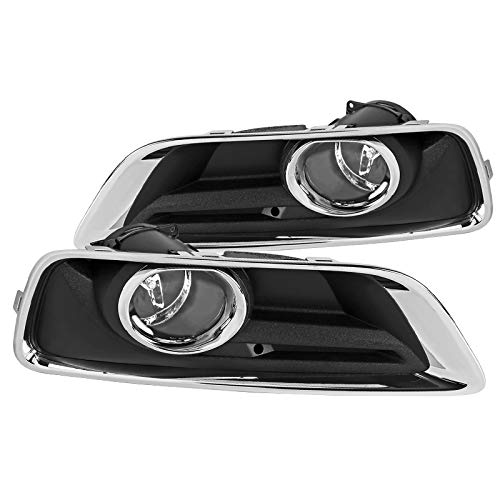 (Chevy Malibu Clear Fog Lights Bumper Driving Lamps w/Switch+Bezel)