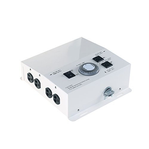 DLS 8-Light HID Grow Light Controller with Timer, 120/240 Volt