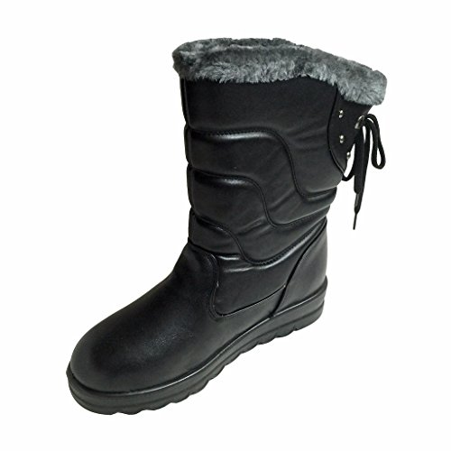 Women's Warm Comfort Winter Boots Faux Fur Lining Shoes Water Resistant Insulated