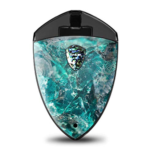 IT'S A SKIN Decal Vinyl Wrap for Smok Rolo Badge Pod System Mod Stickers Sleeve/Chrysocolla hydrated Copper Glass Teal Blue