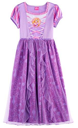 Disney Big Girls' Fantasy Nightgowns, Rapunzel Lively Lavender, 8]()
