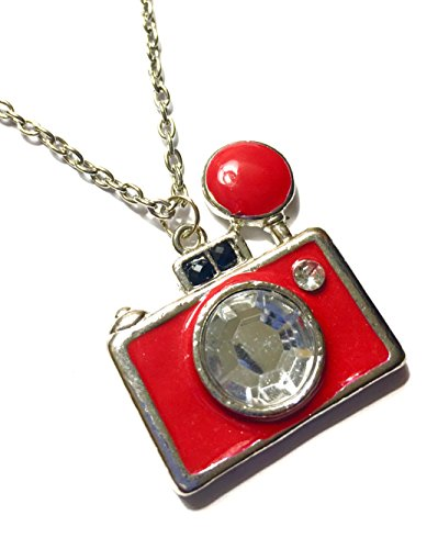 red camera necklace - 3
