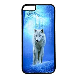 iPhone 6 Plus Case,Fashion Durable Black Side DIY design for Apple iPhone 6 Plus(5.5 inch),PC material iPhone 6 Plus Cover ,Safeguard Phone from Damage ,Designed Specially Pattern from our Life with A White Wolf in Forest. by runtopwell