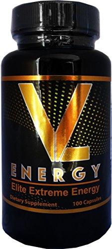 VL ENERGY Elite Extreme Energy Supplement Booster Pills 100 Capsules – Best Energy Pills Works Fast for Men and Women