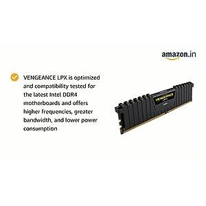 Corsair 16 GB Vengeance LPX DDR4 3000MHz C16 XMP 2.0 Desktop Memory – Black