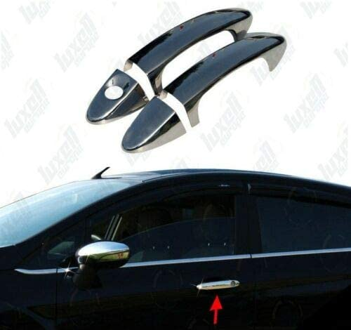 Chrome Door Handle Cover Sets Fits Fiesta Coupe MK6 VI 2009-2017 2-Door