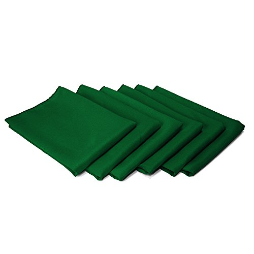 TableLinensforLess 17 x 17-Inch Cloth Napkin - 6 Pack (Hunter Green)